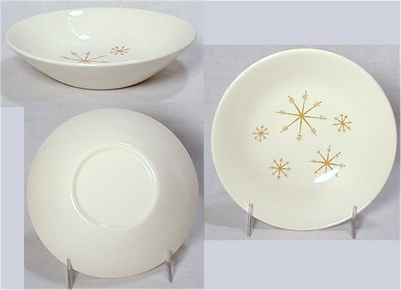 Glow bowl with eight-pointed stars from Royal China. & Collecting Antique American Dinnerware | Cajun Collection