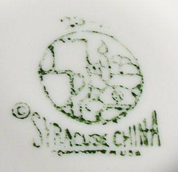 Green Syracuse China mark on vitreous china bowl.