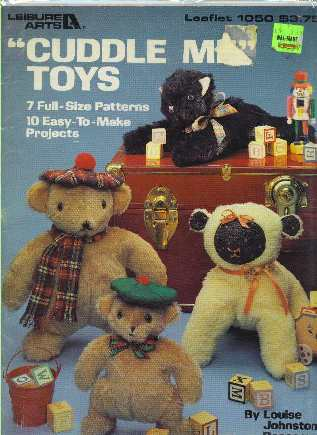 Cuddle Me Toys Teddy Bears Animals Sewing Pattern Leisure Arts